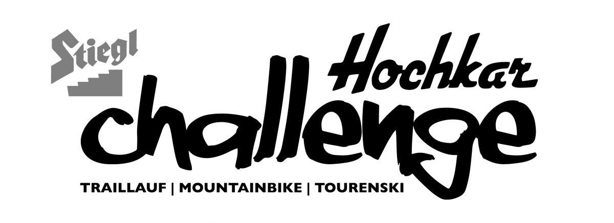 Stiegl Hochkar Challenge - Logo 2016 - Schwarz auf Weiß - Traillauf | Mountainbike | Tourenski