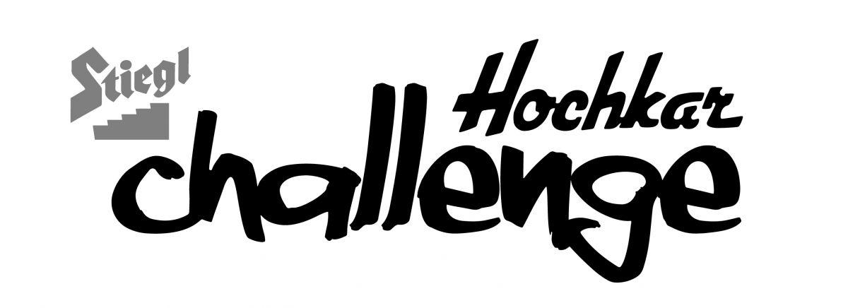 Stiegl Hochkar Challenge - Logo 2016 - Schwarz auf Weiß - Simple