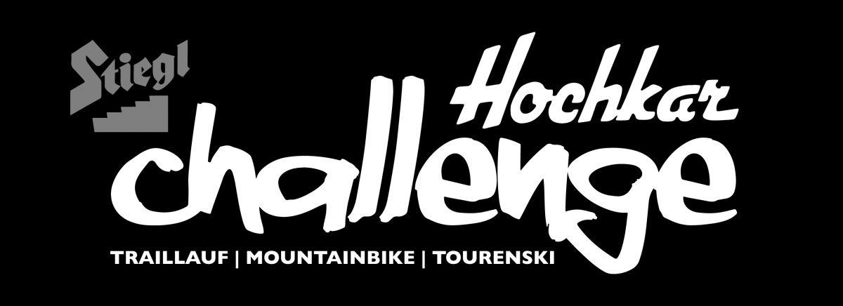 Stiegl Hochkar Challenge - Logo 2016 - Weiß auf Schwarz - Traillauf | Mountainbike | Tourenski