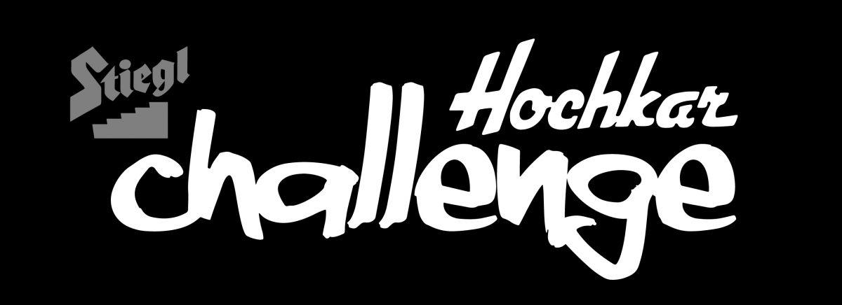 Stiegl Hochkar Challenge - Logo 2016 - Weiß auf Schwarz - Simple