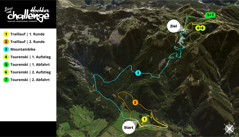 Hochkarchallenge 2017 - Streckenplan GESAMT