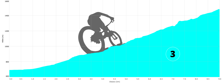 Hochkarchallenge 2017 - Höhenprofil Mountainbike