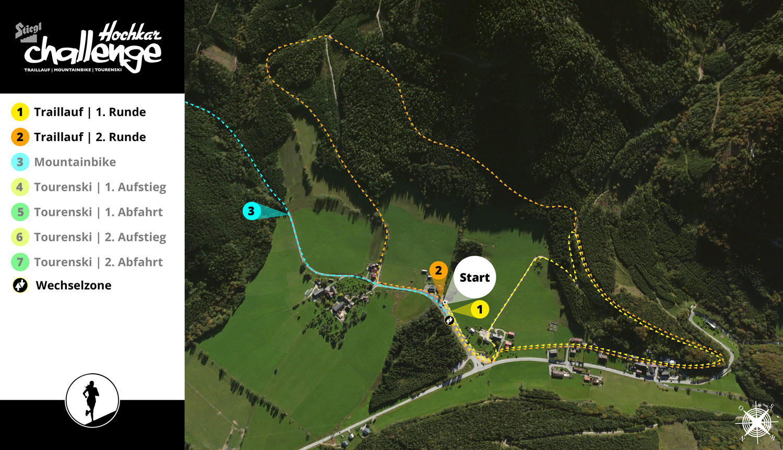 Hochkarchallenge 2017 - Streckenplan Traillauf