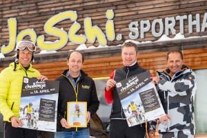 am Foto von links: Thomas Sykora (Schistar) Johannes Putz (JoSchi) Ralf Teuf und Christian Mühlberger (beide Stiegl) | Foto © Ludwig Fahrnberber