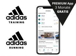 adidas Running und adidas Training Apps 3 Monate Gratis