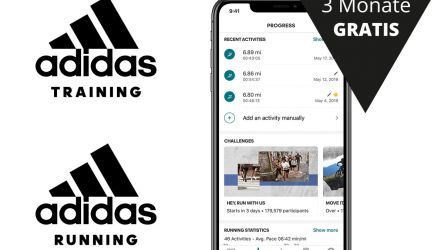 adidas Running und adidas Training Apps 3 Monate Gratis