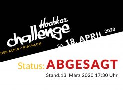 Hochkar Challenge ABGESAGT
